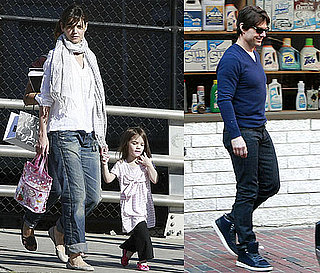 Photos of Tom Cruise, Katie Holmes, Suri Cruise, Connor Cruise Shopping in Boston