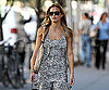 Slide Photo of Bar Refaeli Walking In NYC with Shopping Bag