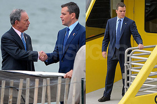 Photos of Matt Damon Filming The Adjustment Bureau in NYC 2009-09-17 06:00:00