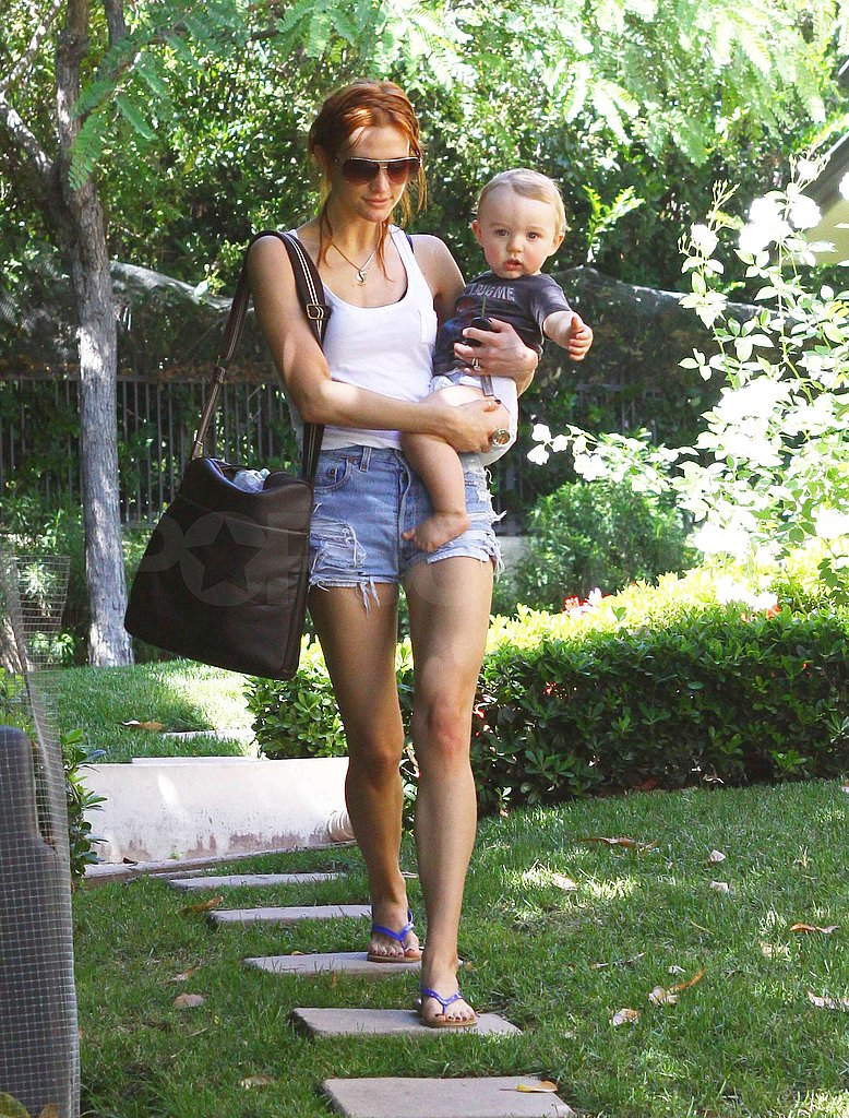 Photos of Ashlee Simpson and Bronx in LA