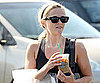 Slide Photo of Reese Witherspoon Drinking Coffee in LA