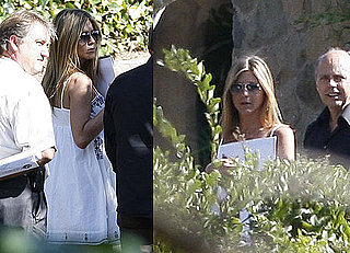 Photos of Jennifer Aniston Meeting With Landscapers at Her LA Home