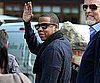 Slide Photo of Jay Z Waving to Fans in UK