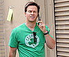 Slide Photo of Mark Wahlberg Talking on His Cell Phone in NYC on the Set of The Other Guys