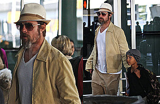 Photos of Brad Pitt And Maddox Jolie-Pitt Together at JFK