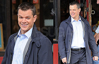 Photos of Matt Damon Filming The Adjustment Bureau in NYC 2009-09-22 13:43:57