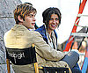 Slide Photo of Chace Crawford and Jessica Szohr Working on Set of Gossip Girl