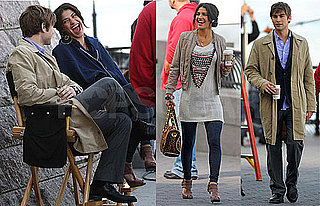 Photos of Jessica Szohr and Chace Crawford Filming Gossip Girl in NYC
