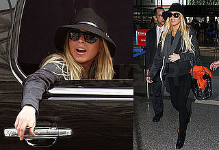 Photo of Lindsay Lohan at LAX on Her Way Overseas