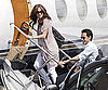 Slide Photo of Jennifer Lopez and Marc Anthony Boarding a Private Plane