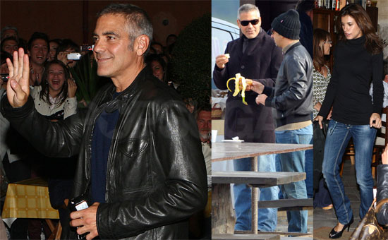 Photos of George Clooney in Italy