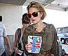 Slide Photo of Drew Barrymore Walking in to LAX