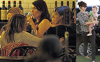 Photos of Nicole Richie and Jessica Alba to Dinner in LA; Jessica With Daughter Honor Warren