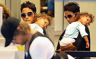Photos of Halle Berry And Gabriel Aubry Looking Cuddly at LAX