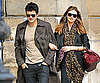 Slide Photo of Miranda Kerr and Orlando Bloom Walking in Paris