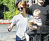 Slide Photo of Ashlee Simpson and Bronx at Starbucks