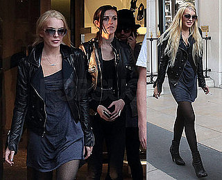 Photos of Lindsay Lohan Shopping in Paris