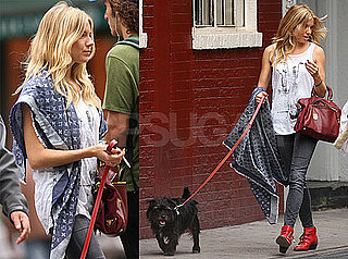 Photos of Sienna Miller in London After Traveling to London For Her Twenty8Twelve Show