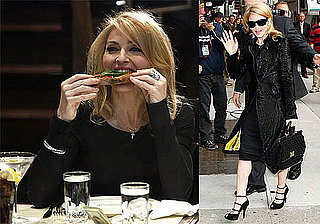 Photos and Video of Madonna Eating Pizza and Talking Marriage on The Late Show