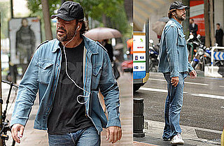 Photos of Javier Bardem Walking in Madrid