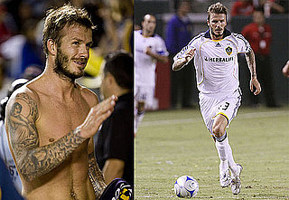 Photos of Shirtless and Scruffy David Beckham Playing Soccer in LA