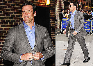 Photos of Jon Hamm on His Way Into The Late Show With David Letterman