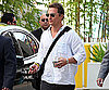 Slide Photo of Matthew McConaughey Leaving CNN Studios in LA