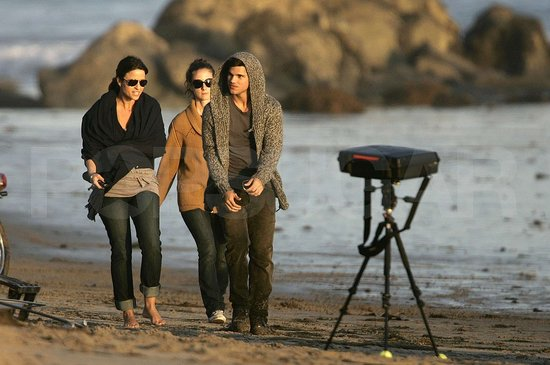 Photos of Taylor Lautner at the Beach