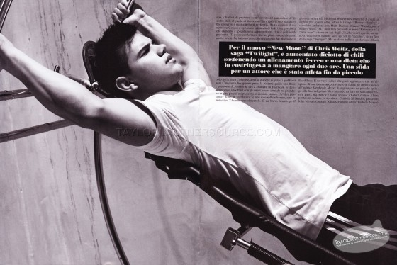 Photos of Taylor Lautner in L'Uomo Vogue