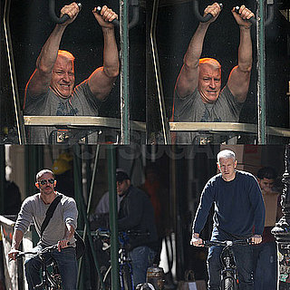 Photos of Anderson Cooper Lifting Weights at the Gym