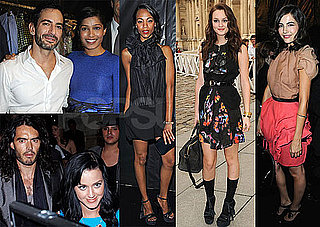 Photos of Russell Brand and Katy Perry at Fendi Party at Paris Fashion Week, Leighton Meester, Marc Jacobs at Louis Vuitton
