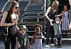 Photos of Angelina Jolie, Shiloh Jolie-Pitt Wearing a Tie, Smiling Zahara Jolie-Pitt at French Grocery Store