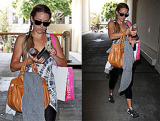 Photos of Lauren Conrad Shopping in Workout Clothes in LA