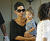 Slide Photo of Halle Berry Carrying Nahla Aubry Around LA