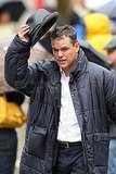 Photos of Matt Damon on Set in NYC