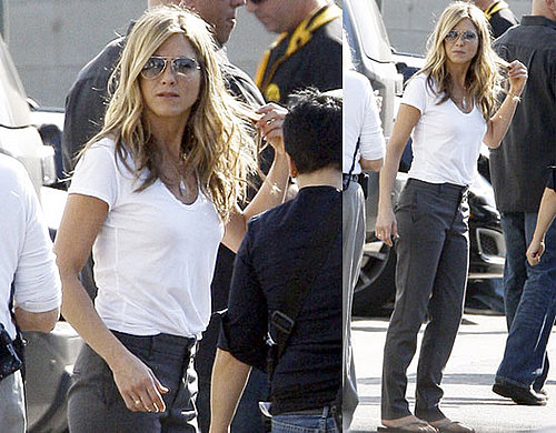 Photos of Jennifer Aniston Filming The Baster in LA