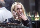 Photos of Lindsay Lohan Smoking in Paris