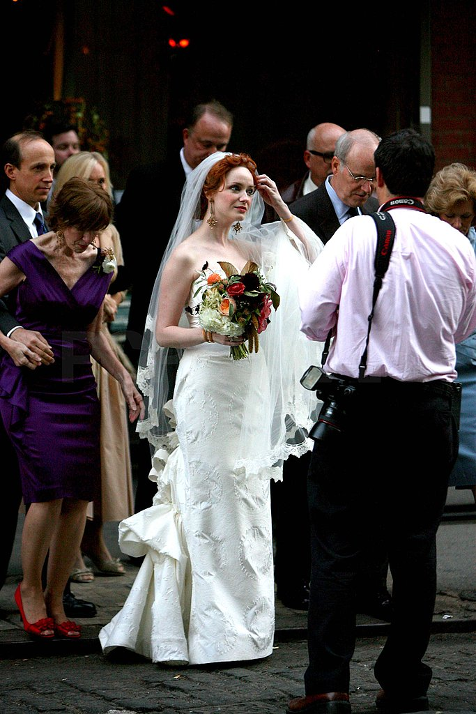 Photos of Christina Hendricks' Wedding