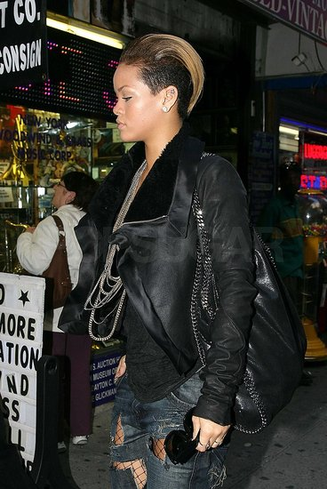Photos of Rihanna in Black in NYC