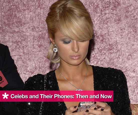Celebrities and Their Cell Phones: Then and Now