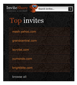 Get Website Invites With the Site InviteShare