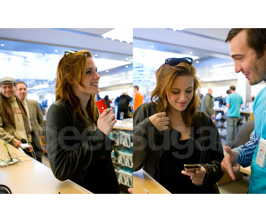 Kristen Stewart (aka Bella) Goes iPod Shopping