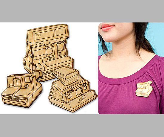 Wooden Polaroid Pins
