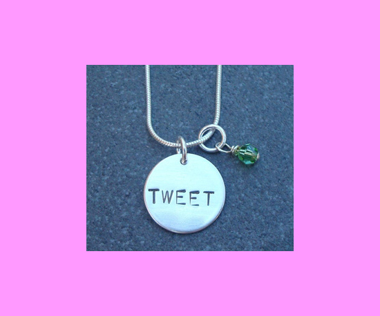 A Tweet Necklace