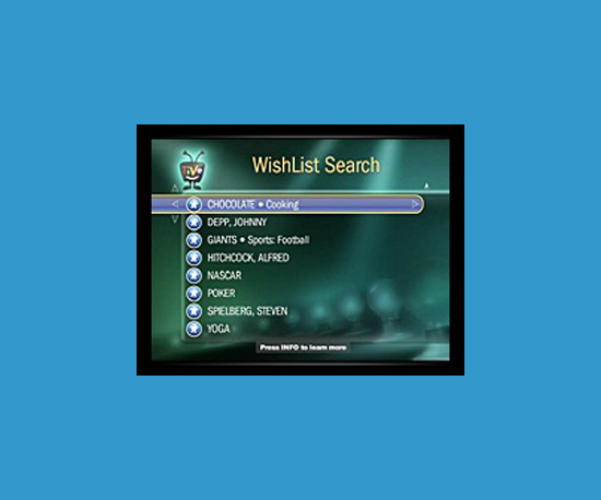 Make Destination Wishlists in TiVo