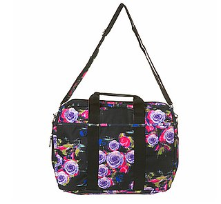 Black Floral Posey Laptop Bag From TopShop