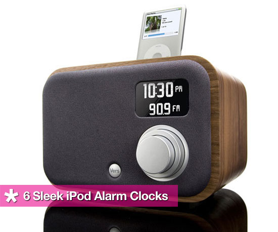 6 Sleek iPod Alarm Clocks That Won&#039;t Leave You Hating the AM