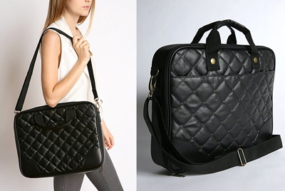 Deena & Ozzy Quilted Laptop Bag From Urban Outfitters