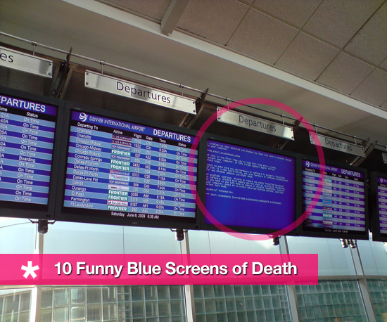 10 Funny Blue Screens of Death