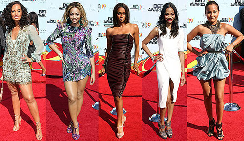 Ciara, Beyonce, Zoe Saldana, and Alicia Keys Attend the 2009 BET Awards